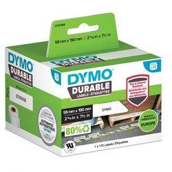 Oryginalne etykiety polipropylenowe DYMO LW 190mm x 59mm durable 1933087 białe/czarny nadruk