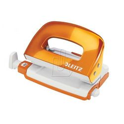 Dziurkacz Leitz WOW 5060 mini do 10 kartek metaliczny pomarańczowy