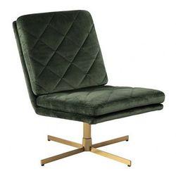 Obrotowy fotel wypoczynkowy Ricco - ciemnozielony