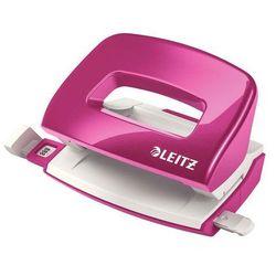 LEITZ Dziurkacz mini WOW metalowy do 10 kartek, różowy metalik