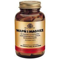 Witaminy i minerały, SOLGAR Wapń i Magnez w postaci cytrynianu x 100 tabletek