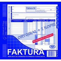 Faktura VAT wzór pełny dla prowadzących sprzedaż w cenach netto MiP 102-XE 2/3 A4