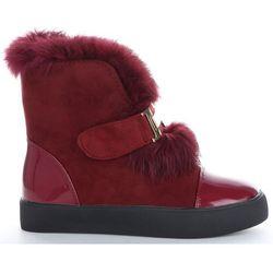 Modne i Eleganckie Sneakersy Damskie Śniegowce firmy Sergio Todzi Bordowe (kolory)