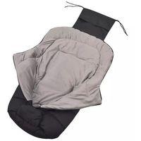 Akcesoria do fotelików, vidaXL Śpiworek do wózka spacerowego, 90 x 45 cm, czarny Darmowa wysyłka i zwroty