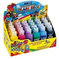 Farby witrażowe 6 kolorów x 4 szt. Glass Deco Amos GD22D24