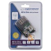 Czytniki kart pamięci, Czytnik kart pamięci Esperanza All in One EA132, USB 2.0