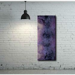 Obraz lawendowy. Podłużna dekoracja ścienna. Modna abstrakcja rabat 15%
