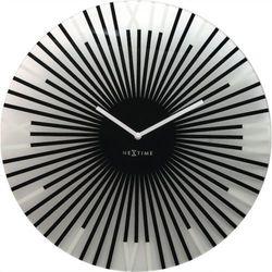 Nextime:: Zegar Ścienny Sticks ø 43 cm Czarny