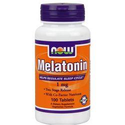 Now Foods Melatonina 1mg + Niacyna 100mg 100 tabl.