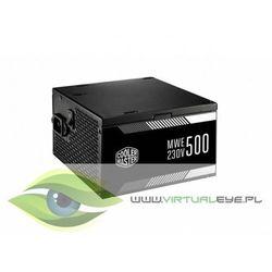 Zasilacz Cooler Master MWE 500W 80+ 80 Plus MPW-5002-ACABW-EU ATX 500 W- natychmiastowa wysyłka, ponad 4000 punktów odbioru!