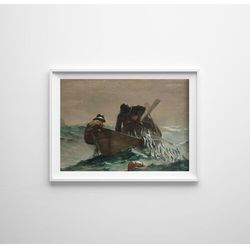 Plakat vintage do salonu Plakat vintage do salonu Winslow Homer Siatka na ryby