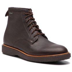 Kozaki CLARKS - Modur Hi Gtx GORE-TEX 261355597 Dark Brown Leather