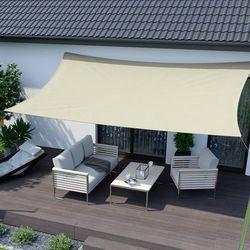 Żagiel przeciwsłoneczny, prostokątny, z tkaniny wodoodpornej, kremowy, 300x200 cm