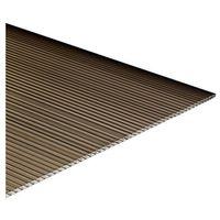 Pozostałe artykuły dachowe, Płyta poliwęglan komorowy Palram brązowa 0,98 x 2 m 6 mm 1,96 m2