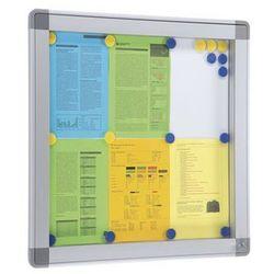 Gablota RECTO, wys. zewn. 1010 mm, pojemność 15 x DIN A4. Do zastosowania wewnąt