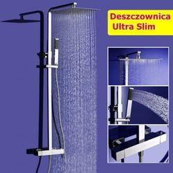 Zestaw Natryskowy Prysznicowy Termostatyczny z Deszczownicą AQUASLIM