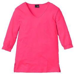 Shirt z rękawami 3/4, bawełna organiczna bonprix ciemnoróżowy