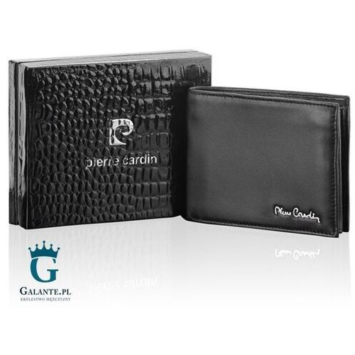 Portfele i portmonetki, Czarny portfel męski Pierre Cardin Sahara TILAK06 8806