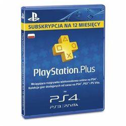 Karta pre-paid SONY PlayStation Plus 12 Miesięcy
