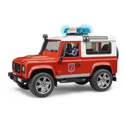 Samochód Land Rover Defender straż pożarna z figurką