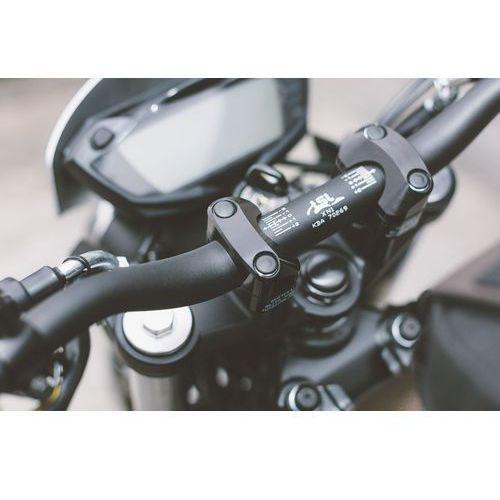 Kierownice motocyklowe, KIEROWNICA SUPERBIKE ŚREDNICA 286 MM 740MM INCL. CONVERTER ZWĘŻANA ALUMINIOWA BLACK