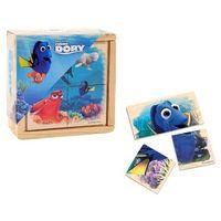 Zabawki z drewna, Drewniane klocki małe Gdzie jest Dory?
