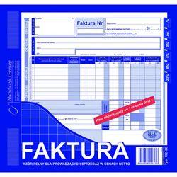 Faktura VAT wzór pełny dla osób prowadzących sprzedaż w cenach netto MiP 102-2E 2/3 A4