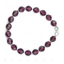 Bransoletka Swarovski Crystal,fiolet