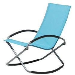 Krzesło ogrodowe turkusowe tekstylne składane CASTO