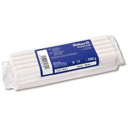 Plastelina 1kg Plastilin modelarska biała PELIKAN - biała