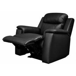 Skórzany fotel z funkcją relaks EVASION - Czarny