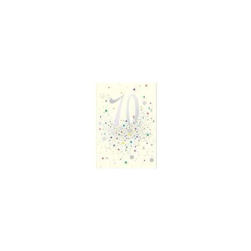 Pozostałe artykuły szkolne, Karnet B6 z kopertą Urodziny 70