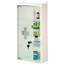 Apteczka domowa zamykana na magnes i klucz, praktyczna szafka medyczna do różnych pomieszczeń