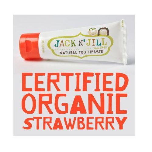 Pasty do zębów dla dzieci, Jack N'Jill, Naturalna pasta do zębów, Organiczna Truskawka i Xylitol, 50g