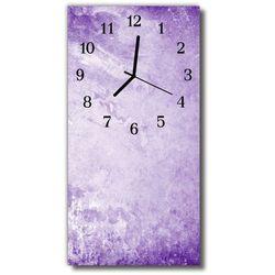 Zegar Szklany Pionowy Sztuka Abstrakcja grafika purpurowy