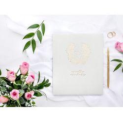 Księga gości weselnych Wianuszek jasnoszara - 22 kartki