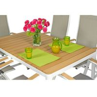 Pozostałe meble ogrodowe, Meble ogrodowe aluminiowe VERONA LEGNO Stół i 6 krzeseł - białe - deski polywood Meble VERONA LEGNO (-5%)