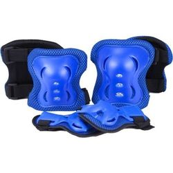 Knee, Elbow and Wrist Protector, Size M, Blue
