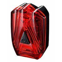Oświetlenie rowerowe, Lampka rowerowa tylna infini lava czarny czerwony