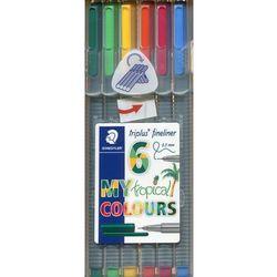 Cienkopis Triplus fineliner 0,3 mm 6 kolorów tropikalnych. Darmowy odbiór w niemal 100 księgarniach!