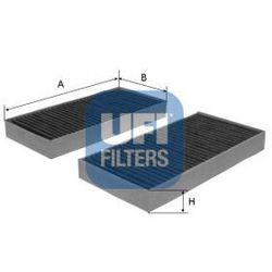 Filtr, wentylacja przestrzeni pasażerskiej UFI 54.173.00