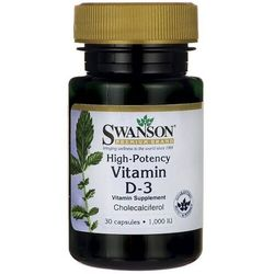 Witamina D3 High-Potency Vitamin D-3 Cholecalciferol 1000IU 30 kapsułek SWANSON