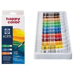 Farba akrylowa zestaw 12 kolorów, 5905130007385