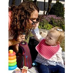 Rovens.pl BUILT Mess Mate - 2 śliniaki dla dzieci (Baby Pink Mini Dots)