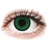 Soczewki kontaktowe, SofLens Natural Colors Emerald - zerówki (2 soczewki)