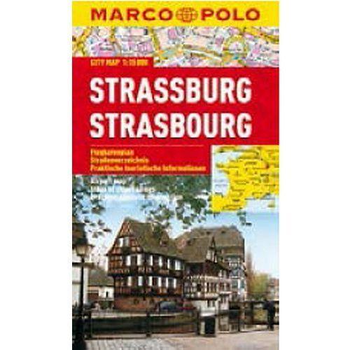 Mapy i atlasy turystyczne, Strasburg 1:15 000. Laminowany plan miasta. Marco Polo (opr. miękka)