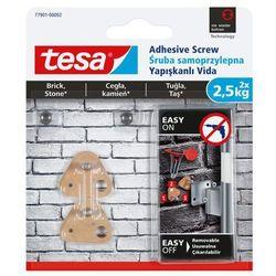 Śruby samoprzylepne Tesa zewnętrzne trójkątna udźwig 2,5 kg 2 szt.