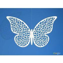 Dekoracja papierowa Motylki małe - 6,5 x 4 cm - 10 szt.