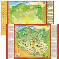 Mapa polski młodego odkrywcy dwustronna podkładka na biurko + pisak