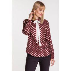 Burgundowa koszula w kropki - Duet Woman